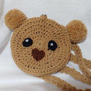 Handmade Crocheted Koala Bear Purse Back Pack